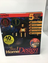 VINTAGE PUNCH  SOFTWARE - 5 IN 1 HOME DESIGN New opened box - $18.69