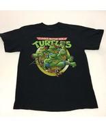 Teenage Mutant Ninja Turtles Black Tshirt Classic TNMT 2013 Adult Large ... - $14.01