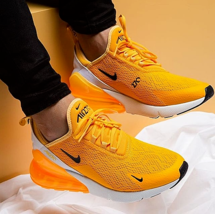 "Nike Air Max 270 Running Shoes for Men ""Yellow / White"" image 5"