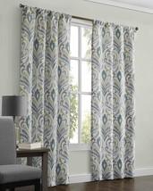 Mainstays Carerra Window Curtain Light Blue Damask Panel Pair, 40 W x 84 L Each - $24.26