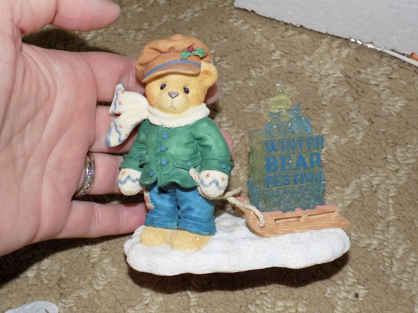 "Primary image for Cherished Teddies ~ James, ""Going My Way For The Holidays""  ~ NEW LAST ONE"