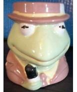 Sesame Street Muppets Kermit Frog News Reporter Coffee Mug Jim Henson Te... - $19.78