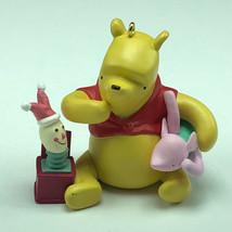 WINNIE POOH CHRISTMAS ORNAMENT Walt Disney figurine piglet jack in box v... - $22.77