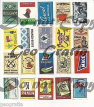 Scrapbooking Crafts Vtg Match Box Labels Graphics Digital Download 130+ ... - $2.93