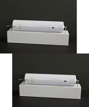 Two (2) white indoor heavy duty 10 lb 18 RPM battery powered wind spinner motors - $35.00