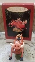 DISNEY HALLMARK Lion King TIMON AND PUMBAA Christmas ornament  - $11.76