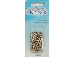 Horizon Jewelry Essentials Findings Oval Toggle Clasps, Set of 6