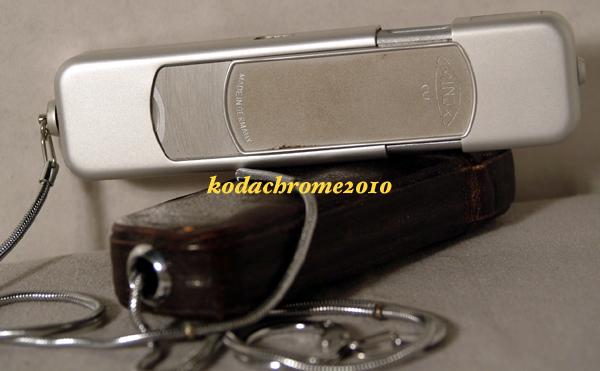 Minox B Subminiature Spy Camera w/Case & Beaded Chain-Satin Finish