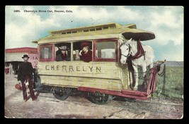 Cherrelyn Horse Car Postcard Colorado Denver 1913 CO PC - $12.50