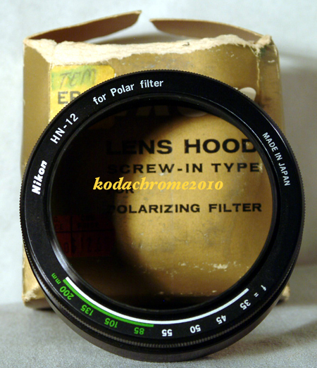 Nikon Lens Hood HN-12 Screw-In for Polarizing Filter, 2-Part MIB Rare