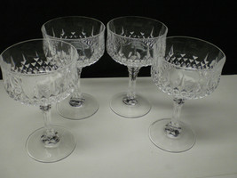 12 Cristal d'Arques Longchamp Saucer Champagnes / Sherbets~~htf these - $99.95