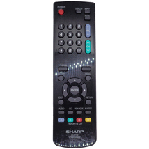 Sharp 076B0MQ051 Missing Battery Cover Factory Original Tv Remote LC42SV49U - $16.17
