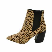 Qupid MILKWAY-07A Tan Black Leopard Women's Pointy Toe Ankle Booties - $58.95