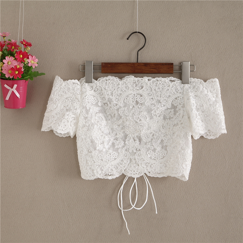 Lace top short sleeve  2