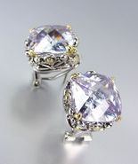 Designer Style Silver Gold Balinese Filigree Lavender Quartz CZ Crystal ... - £20.72 GBP