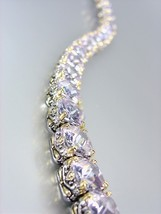Designer Style Silver Gold Balinese Lavender Amethyst CZ Crystals Links Bracelet - $79.99