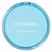 COVERGIRL Clean Matte Pressed Powder, 1 Container (0.35 Oz), Classic Ivo... - $8.52
