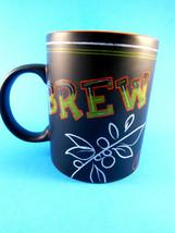 Starbucks Coffee Mug Cup Black with Orange Inside Brew Venti 12 oz 2007 - $12.86