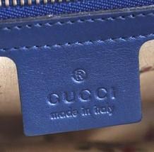 #31642 Gucci Marmont Gg Embroidered Matelasse Logo Tote Blue Denim Shoulder Bag image 6