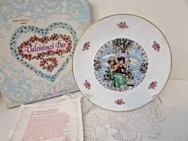 Royal Doulton Bone China Collector Plate Valentine's Day 1980 England Boxed - $14.80
