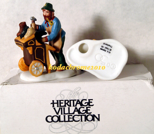 "Mint ""Cobbler & Clock Peddler"" Heritage Dickens Village Coll"