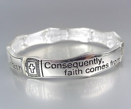 Inspirational Scripture ROMANS 10:17 Stretch Stackable Bracelet - €7,19 EUR