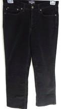 Polo Jeans Co. By Ralph Lauren Size 8 Pants Womens Boot-Cut Black Cordur... - $14.84
