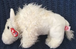 TY Beanie Buddy ROAM the Plush White Buffalo (11 inch) MWMTs Stuffed Ani... - $11.87