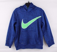 Nike youth kids therma fit basketball pull over hoodie blue size 6 - $13.91