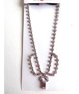 Scunci Silver Rhinestone Chain Link  w/ 2 Tier Drop Fashion Headband - $6.99