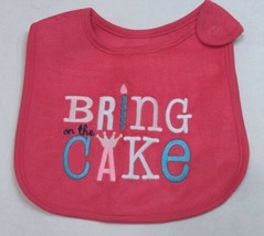 Carter's Birthday Bib for Girls Bring on the Cake! Extra Large Size - $7.50