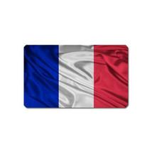 FRANCE FLAG SHAPE SOUVENIR REFRIGERATOR MAGNET NAME CARD SIZE - $3.99