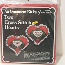 An Ornament Cross Stitch Kit Yours Truly Christmas Two Hearts - $8.79