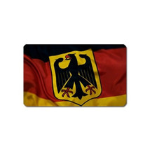 GERMANY FLAG SOUVENIR REFRIGERATOR MAGNET NAME CARD SIZE - $3.99