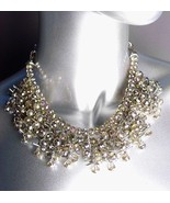 SHIMMERY DESIGNER STYLE Smoky Quartz Crystals Clusters Drape Necklace - $39.99