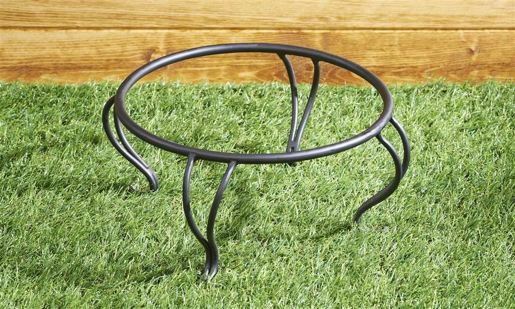 "11.5"" Iron Birdbath Basin Bowl Holder NEW"