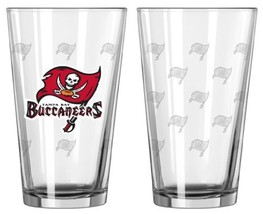 Tampa Bay Buccaneers Satin Etch Pint Glass Set - $33.06
