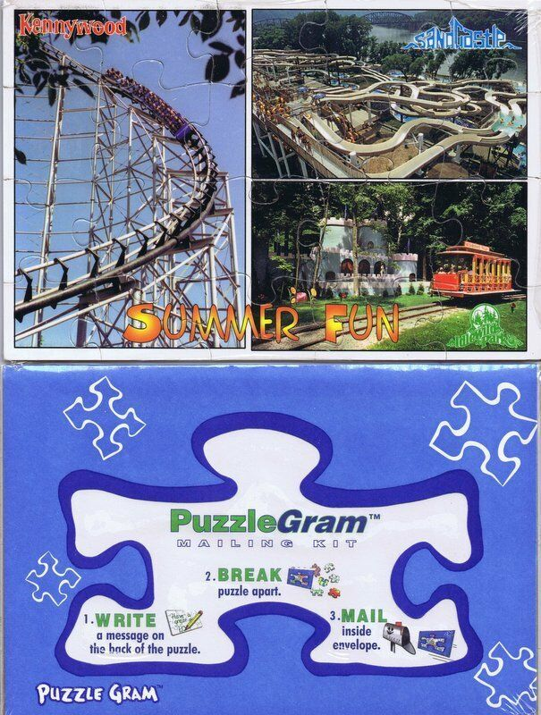 Primary image for Vintage Sealed Pittsburgh Kennywood / Sandcastle / Idlewild Puzzlegram Puzzle