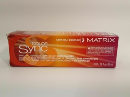 Matrix Color Sync Seamless Creme Demi-Color Ammonia Free 4G Dark Brown G... - $5.93