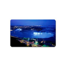 NIAGARA FALLS AT NIGHT VIEW SOUVENIR REFRIGERATOR MAGNET NAME CARD SIZE - $3.99