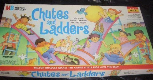 CHUTES AND LADDERS 1997 BOARD GAME--COMPLETE