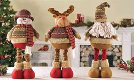 """16"""" Soft Woolen Reindeer Figurine that stretches to a Height of 24"""" image 2"""