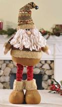 "16"" Soft Woolen Santa Figurine that stretches to a Height of 24"""