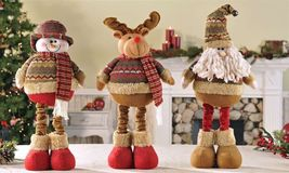 """16"""" Soft Woolen Santa Figurine that stretches to a Height of 24"""" image 2"""