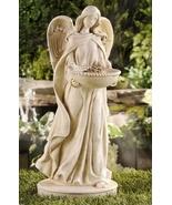 """18.7"""" Angel Statue Birdfeeder Polystone White - $69.29"""