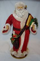 "18""  Vintage Look Standing Santa Figurine on Base NEW"