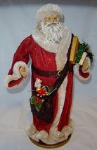 """18""""  Vintage Look Standing Santa Figurine on Base NEW image 4"""