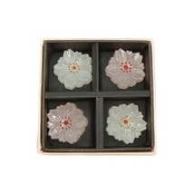Hashioki Japanese glass chopstick rest Sakura cherryblossom set of 4 fro... - $24.25