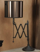 "26"" High Metal Foldable Table Lamp w Pvc Shade"
