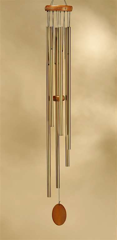 "36"" Wind Chime Wood & Aluminum Serenity Garden - Sunset Song  NEW"
